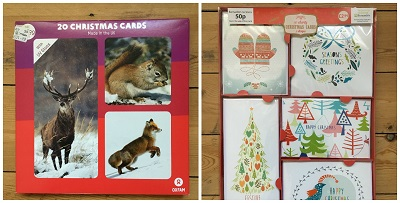 Charity Christmas Cards bought in the sales