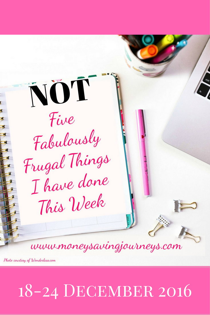 NOT Five Fabulously Frugal Things
