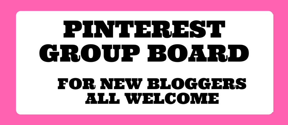 Pinterest Group Board for New Bloggers
