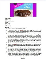 recipe, printable, chocolate fondant, chocolate, dariole, quick and easy