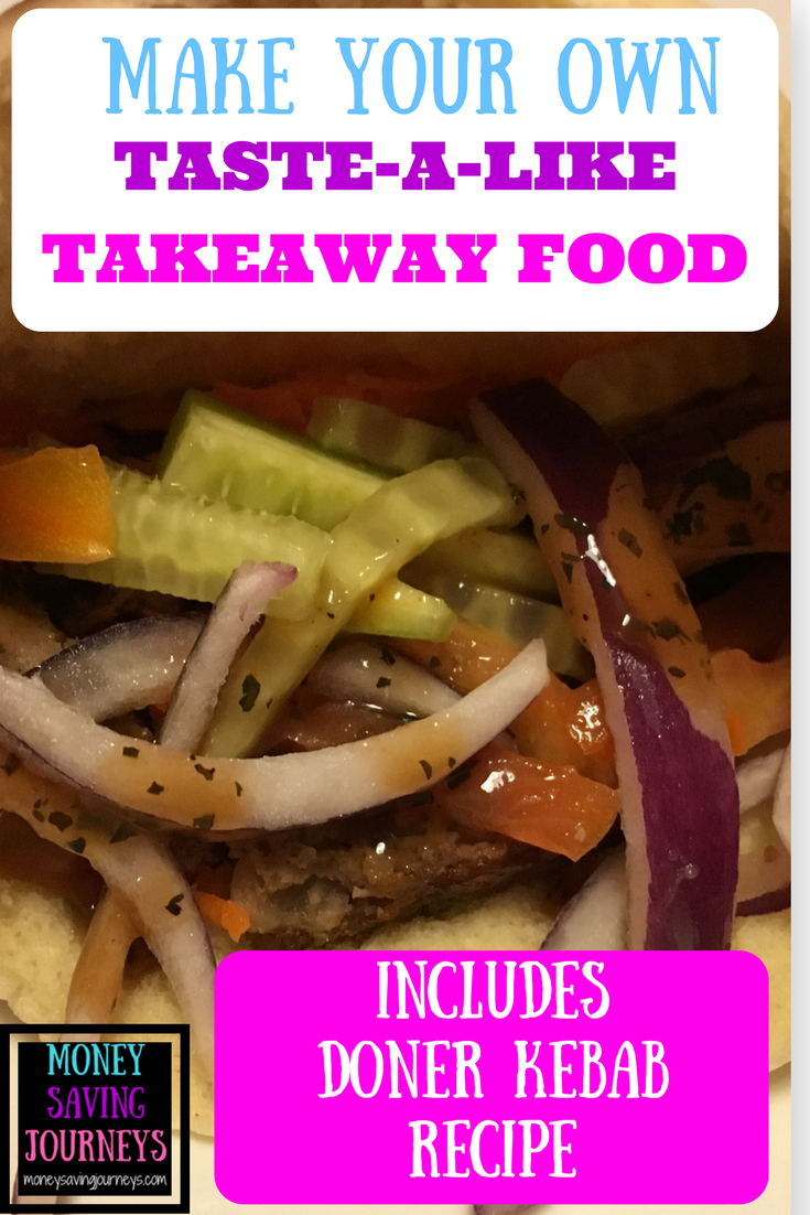 recipe, food, frugal, quick, easy, doner, kebab, homemade, cheap, takeaway, fakeaway, tastealike, make your own