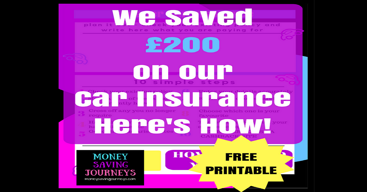 We Saved £200 on our Car Insurance - Here's How!