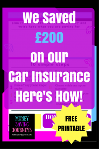 We Saved £200 on our Car Insurance- Here's How!