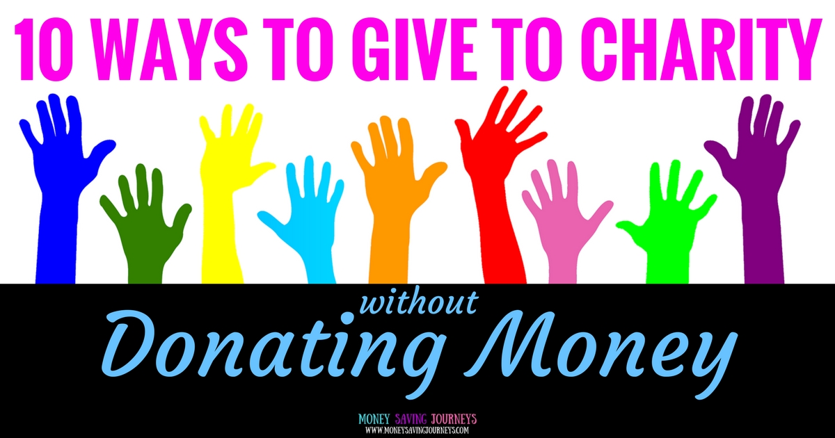10 ways to give to charity without donating money, Give to charity, donating, saving money, save money, money saving, volunteer, volunteering, oxfam, RNIB, Trussel Trust, food bank, little princesses, donate your hair, donate your car, charity car, give a car, community repaing, donate paint, knitted breasts, tag your bag, marks and spencers, M&S, fonebank, dress a girl around the world, pets as therapy