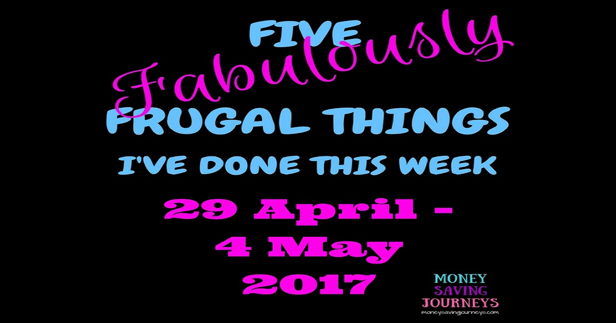 frugal, five frugal things, saving, saving money, money saving