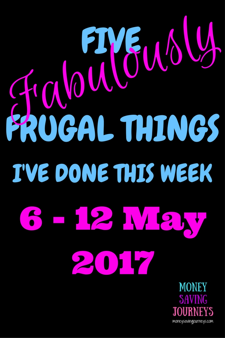 five fabulously frugal things, frugal, money saving, saving money, cycling, cycle, lipstick, make up, batch cooking
