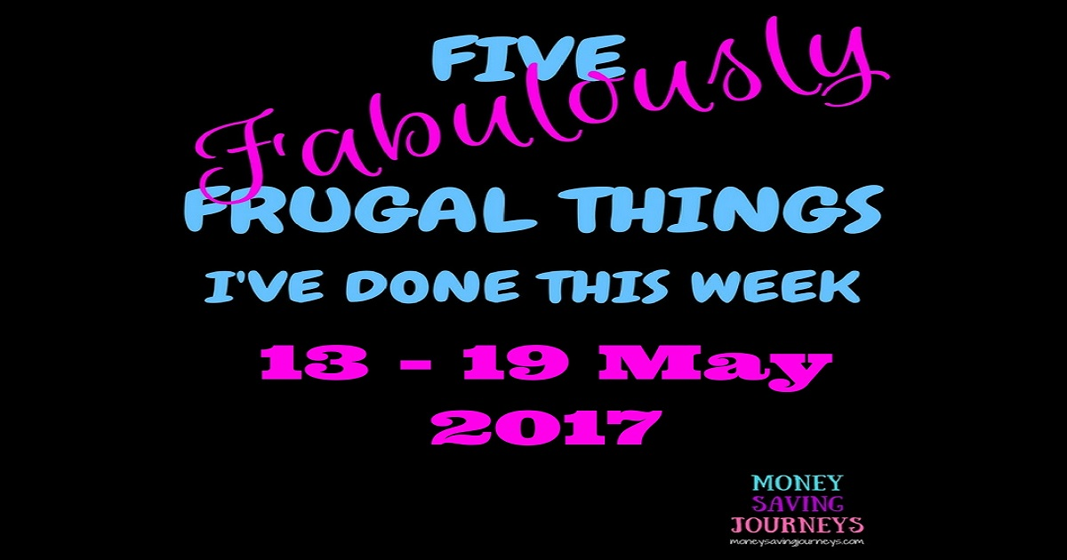 five fabulously frugal things, frugal, sving, money saving