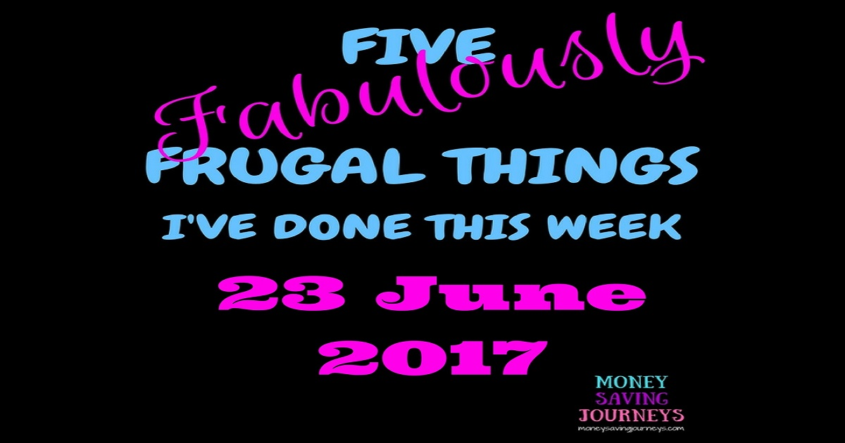 Five Fabulously Frugal Things, save money, saving money, frugal