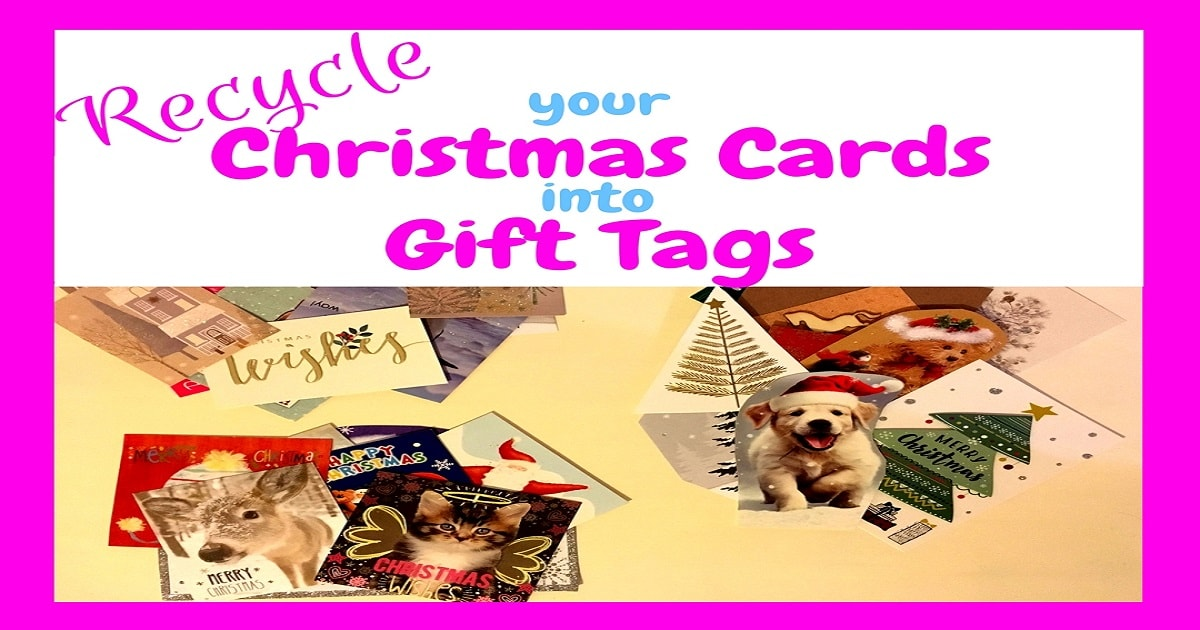 Recycle your Christmas cards into gift tags, recycling, reusing, money saving, saving money, save money, frugal, frugal living, frugal tips, Christmas, frugal Christmas, save money at christmas