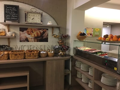 Hotel Floris Breakfast - meats, cheeses, breads, croissants - the works