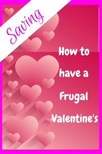 How to have a frugal valentines - Pink floating hearts