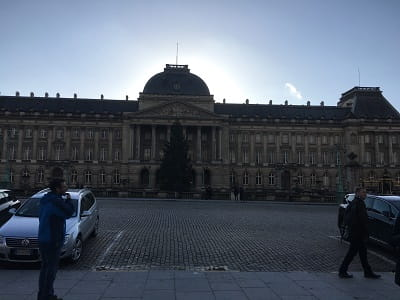 An image of the royal palace in brussels