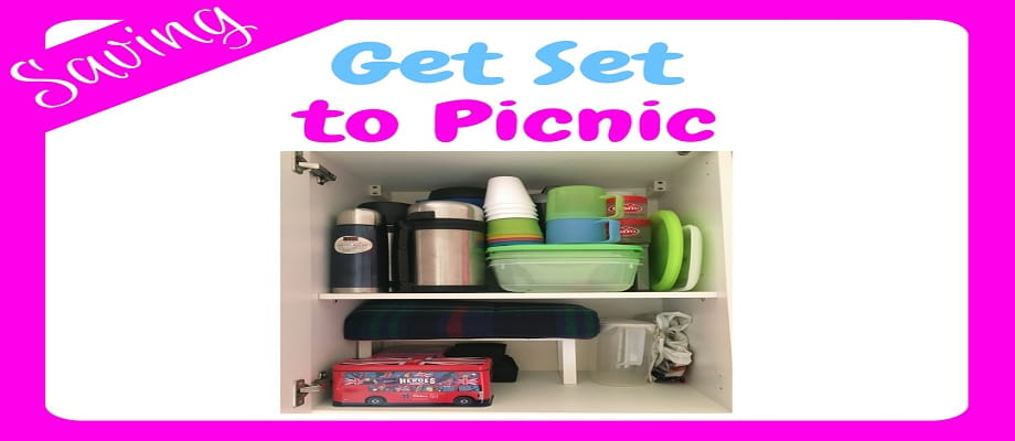 Get Set to Picnic - an image of my newly organised picnic cupboard