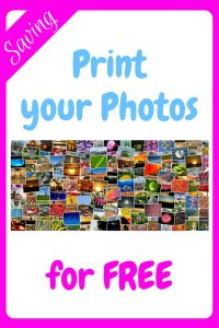 Print your Photos for Free - an image of a collage of brightly coloured photographs