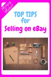 Top Tips for Selling on eBay - an image of parcel paper, scissors, packages, stamps and String