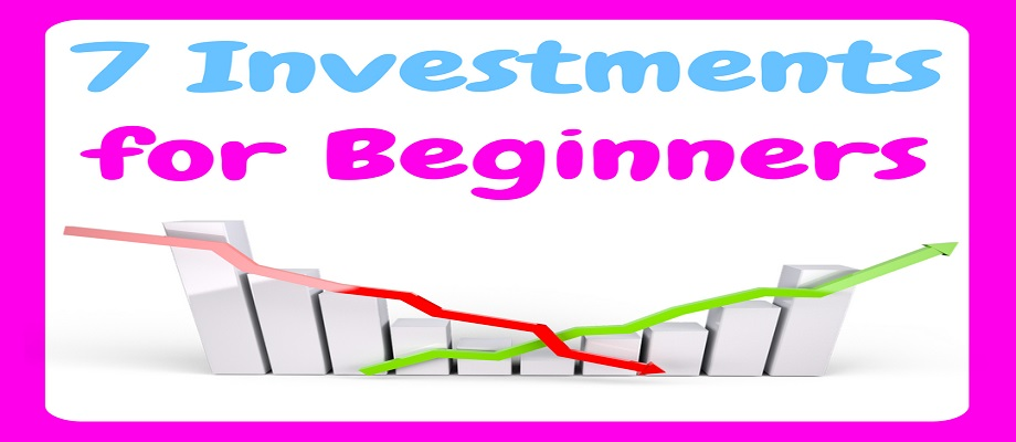 7 Investments for Beginners - image showing graph with a red line decreasing and a green line increasing